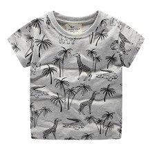 Children Summer Clothing giraffe Cartoon print Kid Boy Casual Sport T-shirt kids short sleeve t shirt 2019 new brand Tees