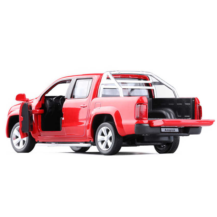 C 1:30 VW AMAROK Pickup Toy Vehicles Model Alloy Pull Back Children Toys Genuine License Collection Gift Acousto-Optic Mini