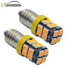 2pcs 1W E10 Warm White 4000K/White 6000K/Amber 2700K 20smd 2835 LED Signal Indicator Bulb Light Bulbs Miniature Screw Base 200lm