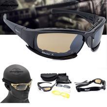 Óculos de Proteção Óculos De Sol Dos Homens óculos de Sol Militares do exército  Masculino 4 Lente Kit Para O Jogo de Guerra Ócul. df138c5aee