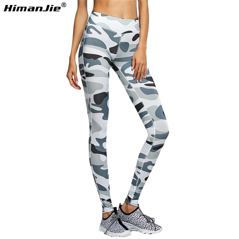54d8bc9948f49 Femmes Taille Haute Camouflage Étiré Pantalon Fitness Exercice Courir Jogging  Collants Sportwear Sport Pantalon De Yoga Leggings