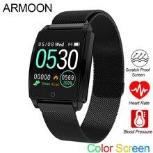 Inteligentny zegarek sportowy mężczyźni kobiety bransoletka sprawdzająca rytm serca ciśnienie krwi pomiar podczas snu opaska monitorująca aktywność fizyczną wodoodporny android ios kolor zespół