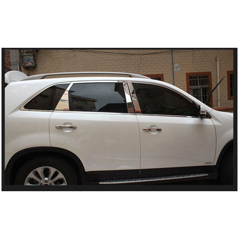 lsrtw2017 304 stainless steel car window trims for kia sorento 2015 2016 2017 2018 Sorento Prime фаркоп vfm bosal для sorento prime без электрики для sorento prime 2015 по н в