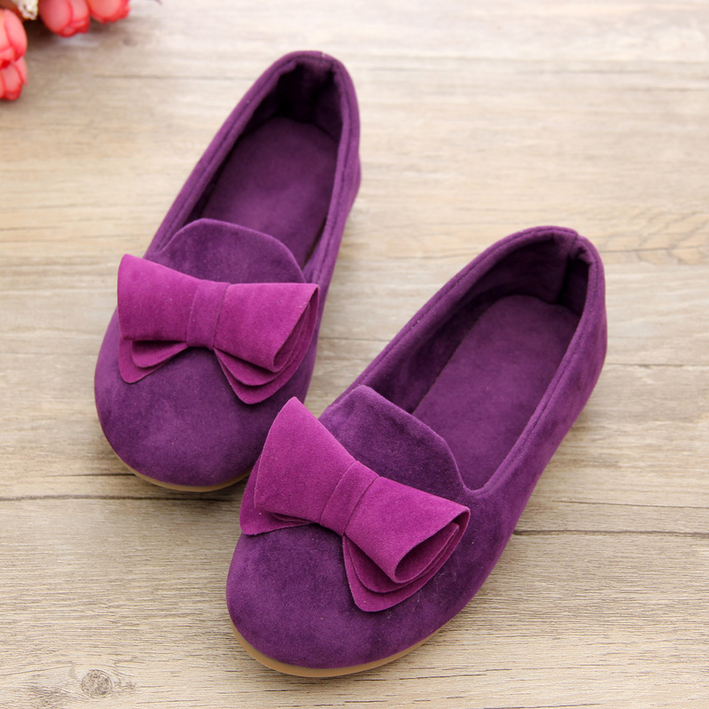 Little Girls Flat Party Shoes Kids Elastic Low Heel NUBUCK Children Slide Baby Elsa Shoes Spring