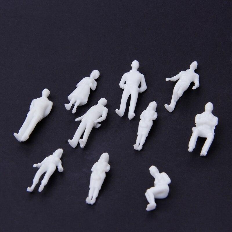 Educational Toy 10Pcs 1:50 Scale Model Miniature White Figurs