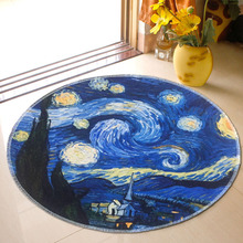 Round Geometric Carpet Rugs Childrens Room Play Area Rug Baby Bedside Indoor Doormat Floor Chair Mat Large Carpets Living