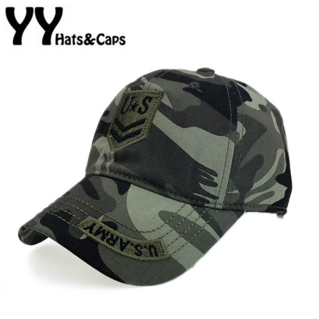 ac162d6899f Online Shop US Army Baseball Cap Men Fitted Thicker Hat Embroidery Camo  Snapback Caps Women Casual Hats Leisure Sunhats Gorra beisbol Y17186