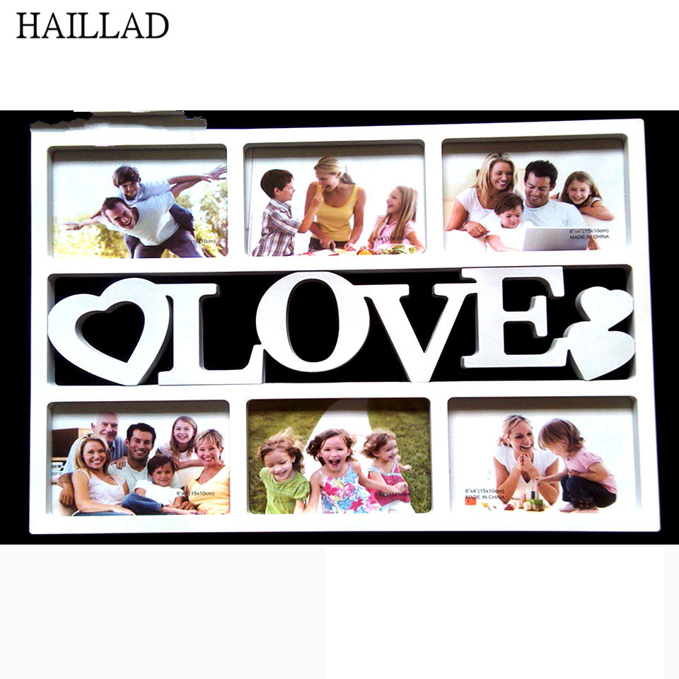 New Fashion 6 Inch Family Combination 3D White Art Photo Frame ...