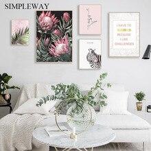 Scandinavian Flower Canvas Poster Nordic Style Wall Art Print Kiss Line Drawing Painting Landscape Decoration Picture Home Decor цена в Москве и Питере