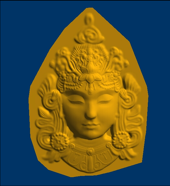 3D model relief  for cnc in STL format Buddha head martyrs faith hope and love and their mother sophia 3d model relief figure stl format religion for cnc in stl file format