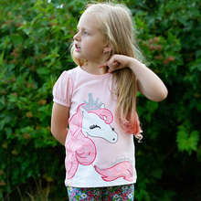 Kids Girls T Shirt Summer Baby Girl Cotton Tops Toddler Tees Clothes Children Clothing Unicorn T-shirts Short Sleeve Casual Wear все цены