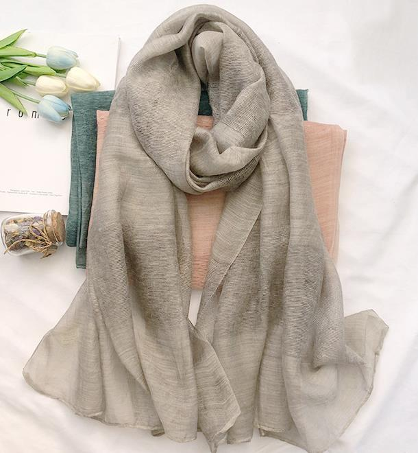 2018 new spring and autumn rayon scarf women's scarf <font><b>190*90</b></font> image