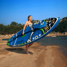 цена на Inflatable Stand Up Paddle Board Sup-Board Surfboard Kayak Surf set 335*84*15cm with Backpack,leash,pump,waterproof bag,fins.
