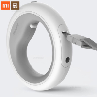 Original xiaomi mijia telescopic dog traction ring pet collar dog leash with LED lighting long 2.6M smart home
