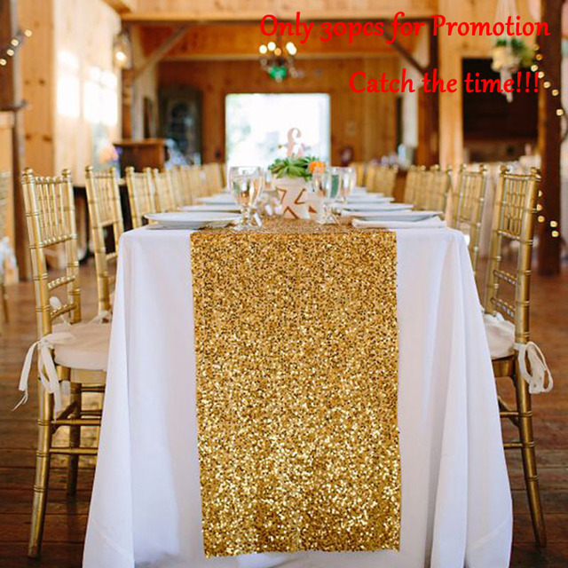Sequin Table Runners Gold 12 By 72in Glitter Runner Event Party