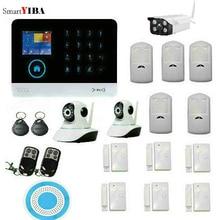 SmartYIBA 3G WIFI Alarm System Wireless Home Security Alarm System IOS Android APP Remote Control Sensor Outdoor Video IP Camera