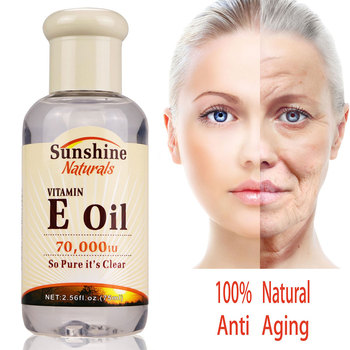 Natural Vitamin E Oil 70000IU  Hyaluronic Liquid Anti Wrinkles Serum For Face Cream Whitening Skin Care Anti-Aging