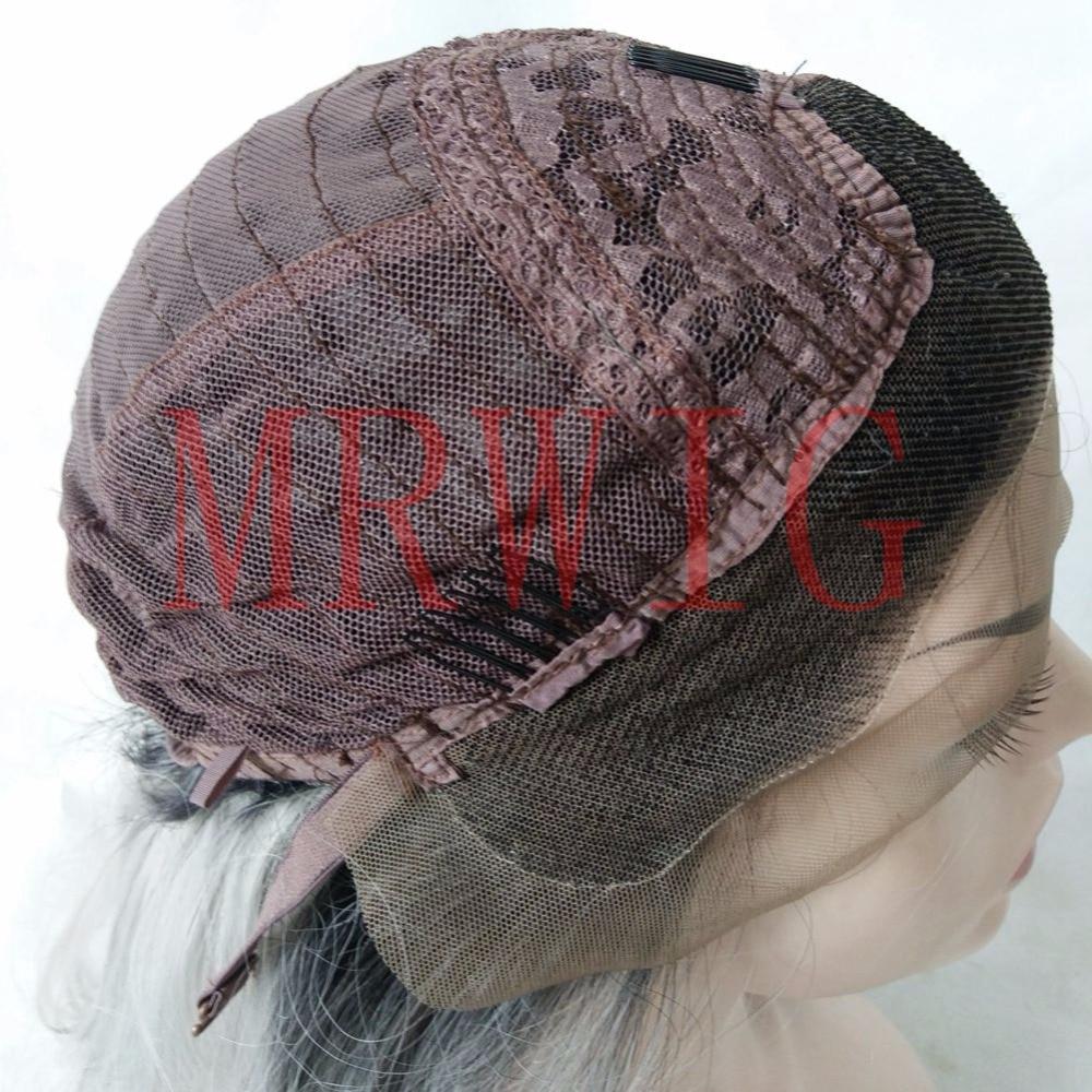 Lång rak naturlig hårhår limlös spets frampärm & full spetspigg - Syntetiskt hår - Foto 5
