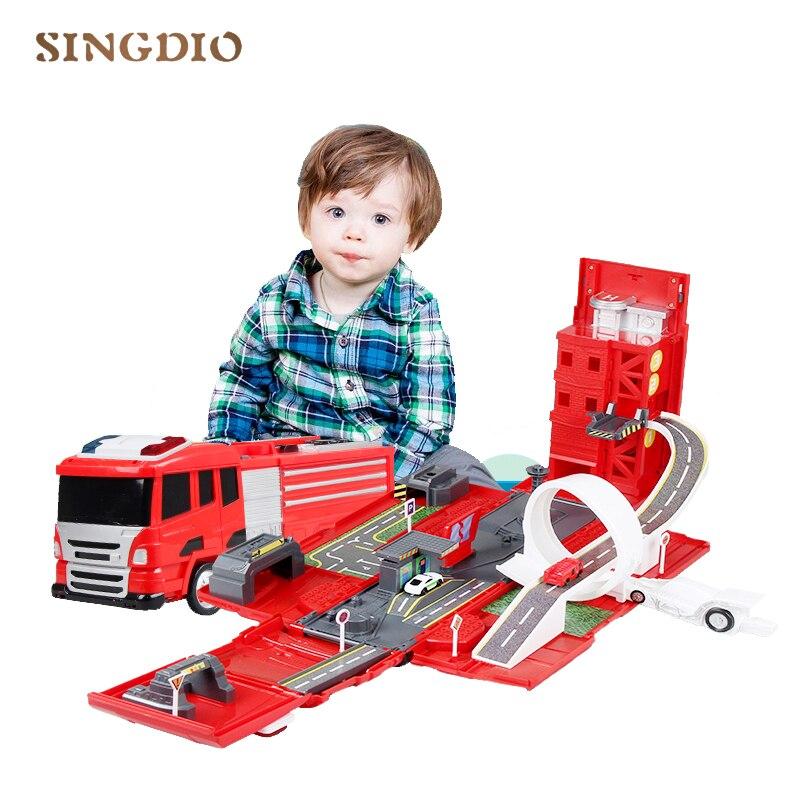 2019 nouveau modèle de voiture en alliage de pompier camion de pompier jouet transformation déformation enfant enfant éducation jouet cadeau de noël