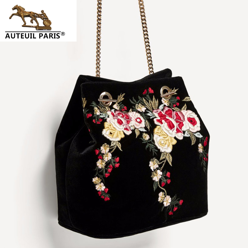 Fashion Handbag Quality Embroidered Women Shoulder Messenger Bag Hot Chain Women Travel Casual Bag Luxury Brand Women Bag
