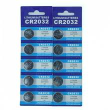 Free Shipping 10pcs/Lot CR2032 3V Cell Battery Button Coin cr 2032 lithium battery For Watches,clocks
