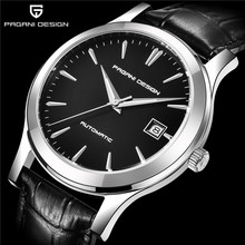 パガーニデザイントップブランドファッションの高級自動機械新メンズ腕時計防水本革時計男性レロジオ Masculino