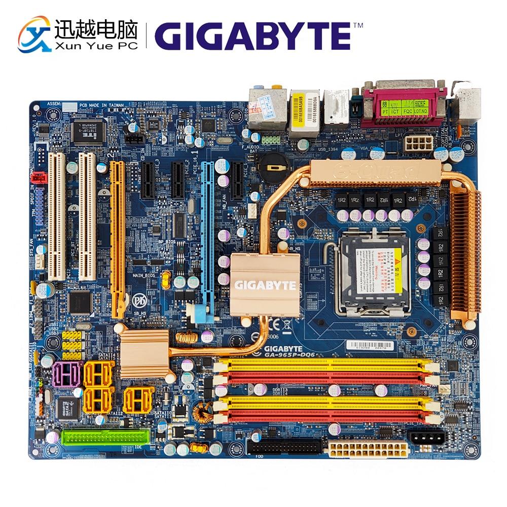 Gigabyte GA-965P-DQ6 Desktop Motherboard 965P-DQ6 P965 LGA 775 DDR2 8G SATA2 ATX цена