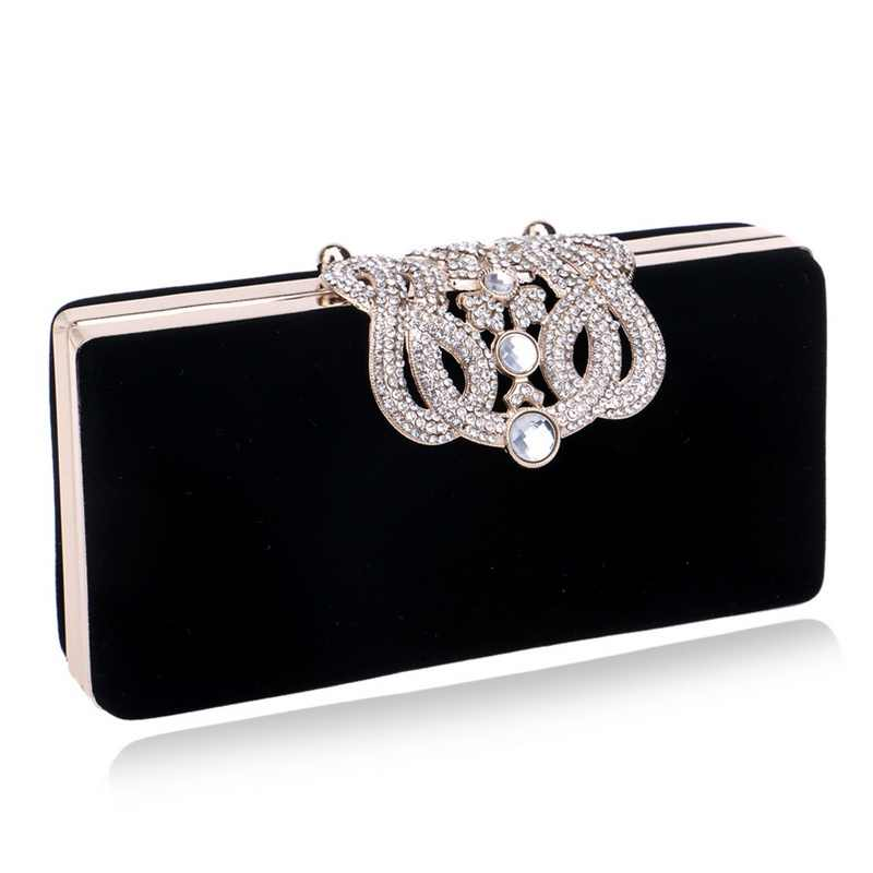 b448b401b981 Малый Для женщин клатч Корона бриллиантами леди Вечерние сумки с цепью  плеча ...