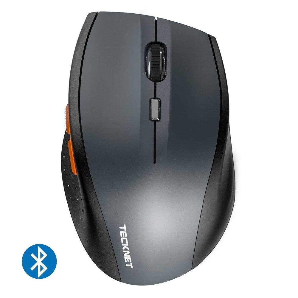 Genuino TeckNet Senza Fili Bluetooth 3.0 Mouse 2.4g-2.4 ghz Senza Ricevitore USB 2000/1500/1000 dpi per il Computer Portatile Notebook PC Computer