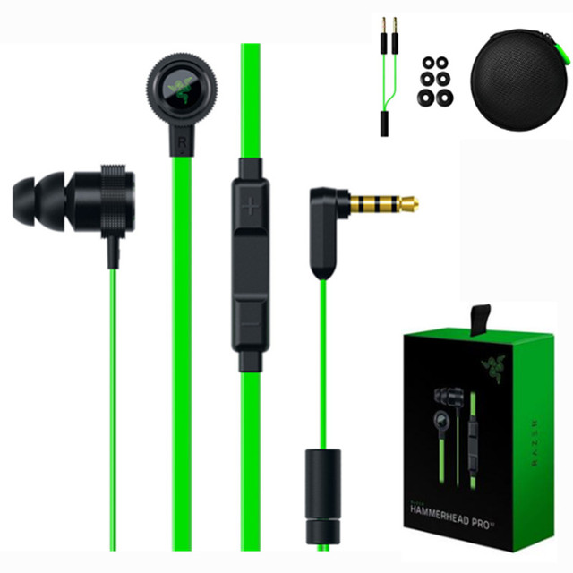 Newest In ear gaming headset for Razer Hammerhead V2 Pro earphone with mic Noise isolation stereo deep bass headset for phone PC