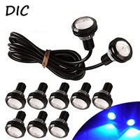 DIC 10 X 9W 12V LED Eagle Eye Light 18mm Car Fog DRL Daytime Reverse Backup
