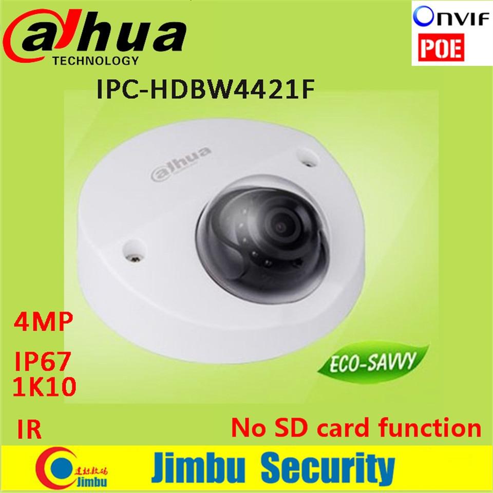 New Dahua 4MP IP Camera POE DH-IPC-HDBW4421F IP67 IK10 H.264 scan CMOS Support Onvif IR distance 20m IPC-HDBW4421F dahua new model dh ipc hfw4421b ip