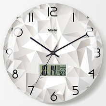 Digital Wall Clock Modern Design Vintage Minimalist Art Living Room Bedroom Watches Home Decor 174