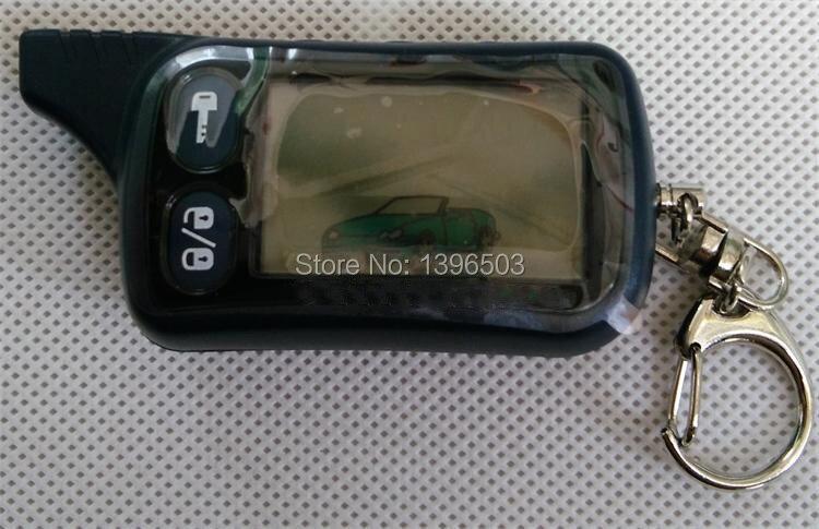 imágenes para + LOGO! 2-way Tz9010 TZ 9010 Llavero de Control Remoto de la Versión Rusa de dos vías sistema de alarma de coche Tomahawk Tz-9010