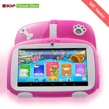 7 Inch New Kids Learning Tablet Pc Android 4.4 Quad Core Installed Best gifts for Children Tablets Pc 512MB+8GB