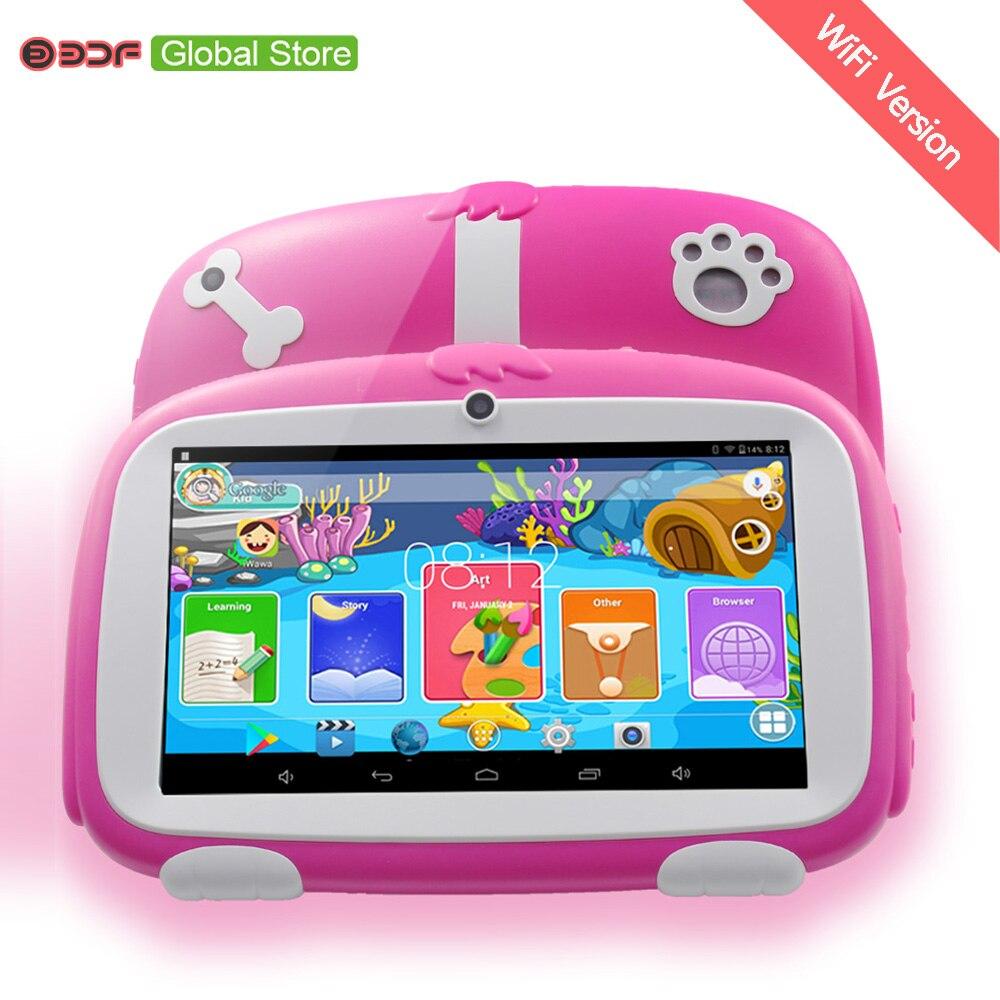 7 Zoll Neue Kinder Lernen Tablet Pc Android 4.4 Quad Core Installiert Beste Geschenke Für Kinder Tabletten Pc 512 Mb + 8 Gb
