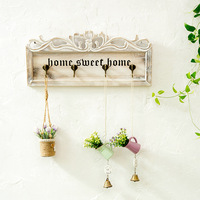 American country wooden coat hooks Retro living room porch door back key hook personality wall decoration hanger mx6041142