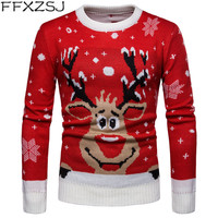 FFXZSJ Brand Men Sweater 2019 Christmas Autumn Winter Warm Pullover 3D Knitted Sweater Blouse Tops Mens Jumper Sweater Male
