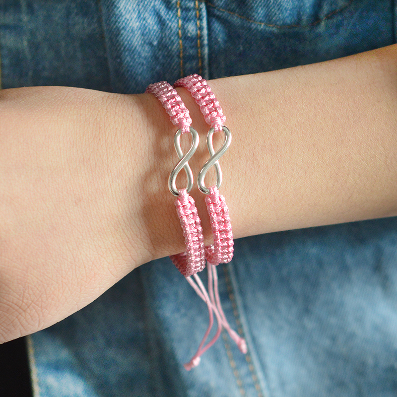 2pcs Infinity Braided kit bracelet Set Friendship Bracelet Set friendly Love Couples Bracelet Set Infinity Fashion Jewelry 5