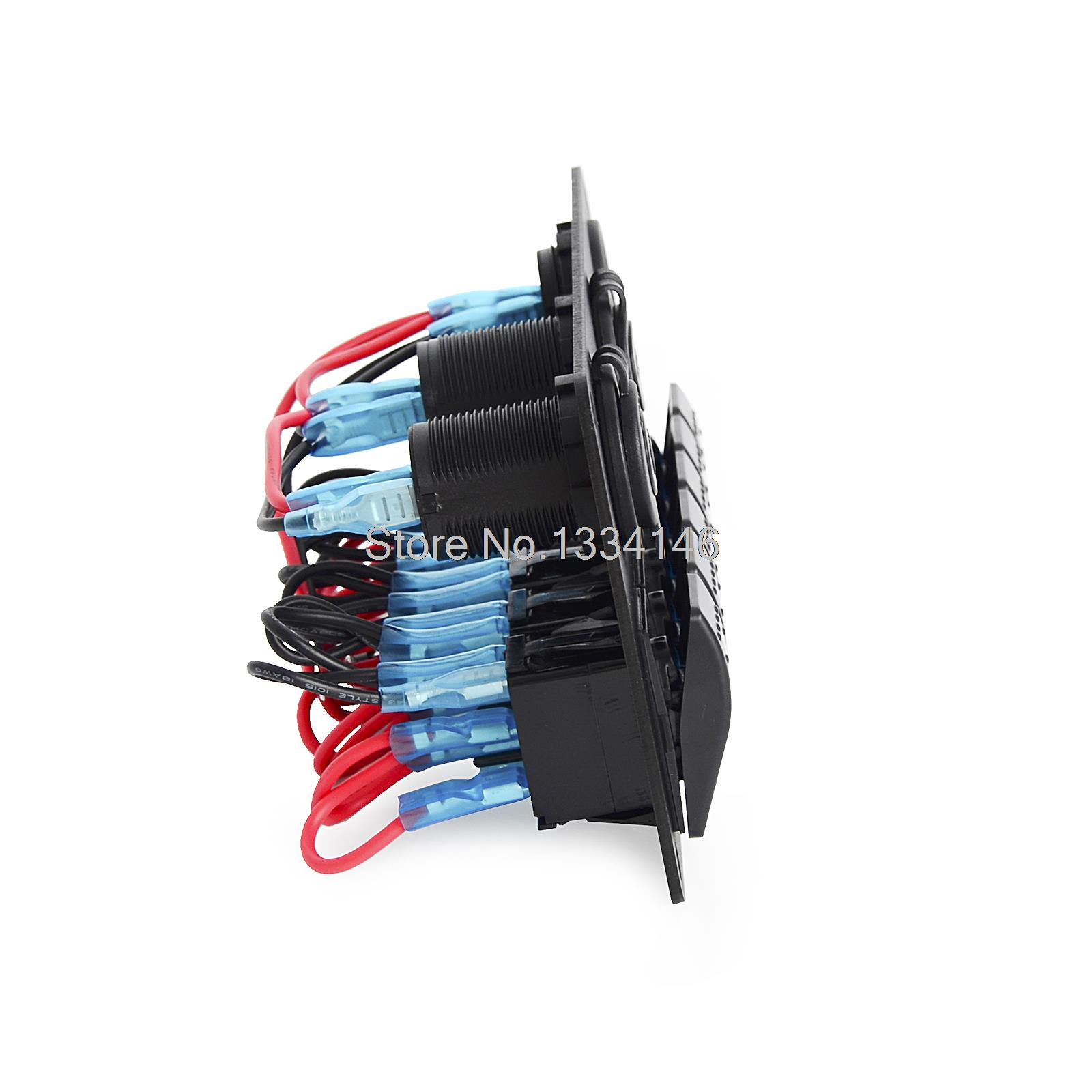 Boat Ac Dc Panel Wiring Electrical Diagrams Marine Diagram Rocker Switch Breaker 6 Gang Waterproof Circuit Motor