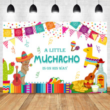 NeoBack Mexican Fiesta Baby Shower Backdrop Taco Bout Little Boy Photography Background Party Banner Supplies