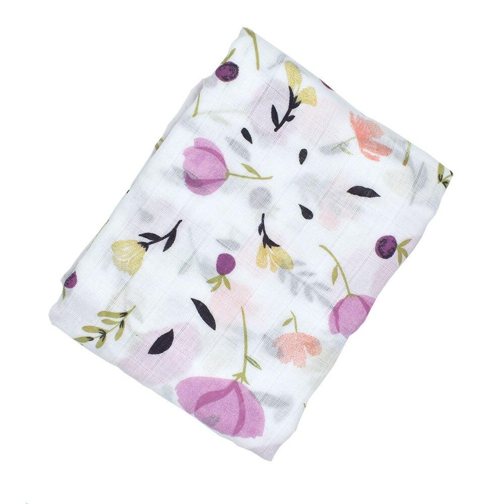 Детское полотенце-пеленка одеяло детская пеленка одеяло мусульманский мультфильм сон детская коляска душ многофункциональное детское одеяло уход за ребенком - Цвет: pink flower