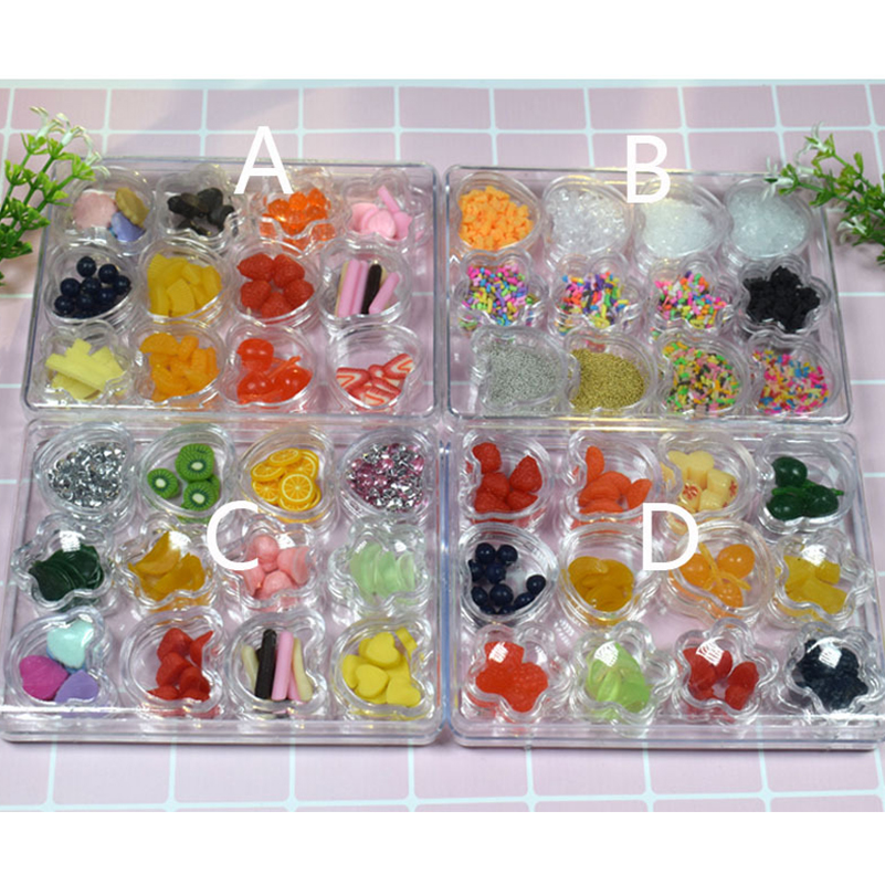 1 Set DIY Food Set Crystal Mud Clay for Baking Fimo Polymer Light Crystal Soil Slime Hand Clay Soft Playdough Handgum Kids Toys in Modeling Clay from Toys Hobbies