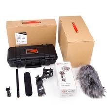 Divindade Kit Super Condensador Cardióide Microfone Desempenho de Som Superior Brisas Seguro Caso À Prova D' Água para Nikon Canon Camera