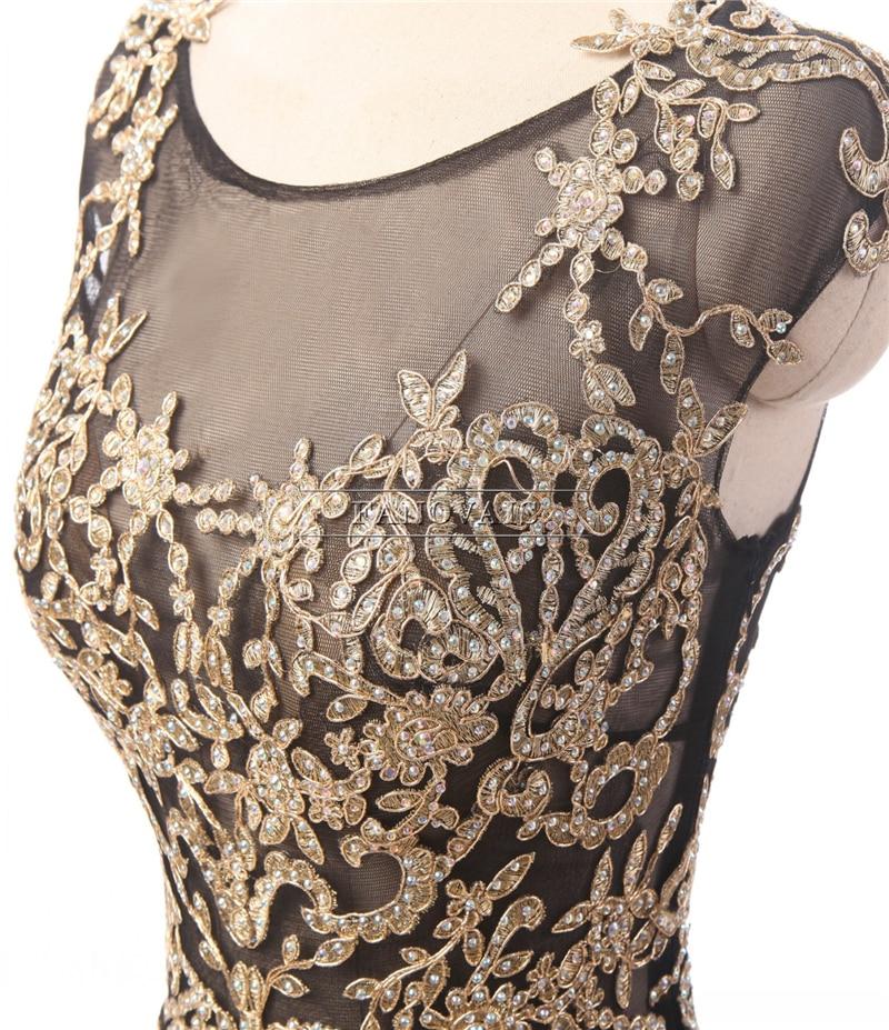 Yüksek Kaliteli Dubai Scoop Altın Aplikler Scoop Mermaid Siyah - Özel Günler Için Elbise - Fotoğraf 5