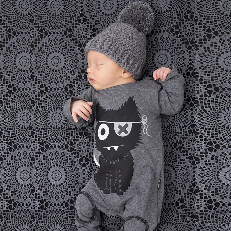 JKBBSETS New 2018 baby rompers baby boy clothing cotton newborn baby girl clothes long sleeve cartoon infant newborn jumpsuit new baby rompers autumn baby boy girl jumpsuit star and moon smiling long sleeve newborn infant clothing ropa recien nacido