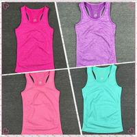 CHAUDE! 5 Couleurs Femmes Chemises De Yoga Fonctionnement Gilet Femelle Élastique Respirant Gym Fitness Gilet Dames Aucun Jantes Gilet Sport chemises A077