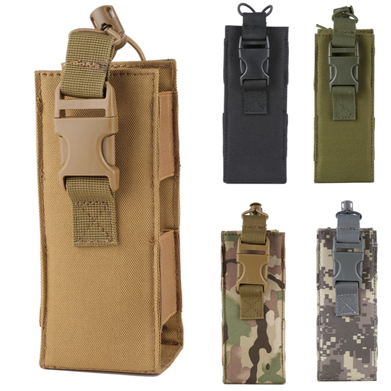 Army   Camouflage Water Bottle  Camping Hiking Canteen Molle