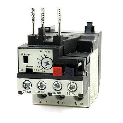 Motor Protector Three Phase 3P 5.5-8.5A Thermal Overload Relay RHN-10K korea three and eocr motor protector eocr 3dm ac220