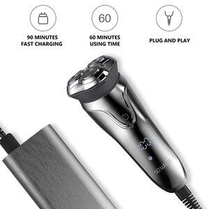 Image 5 - Soocas ÇOK BEYAZ Elektrikli Tıraş Makinesi Jilet Erkekler Yıkanabilir USB Şarj Edilebilir 3D Yüzen Akıllı Kontrol Tıraş Sakal Temizleyici